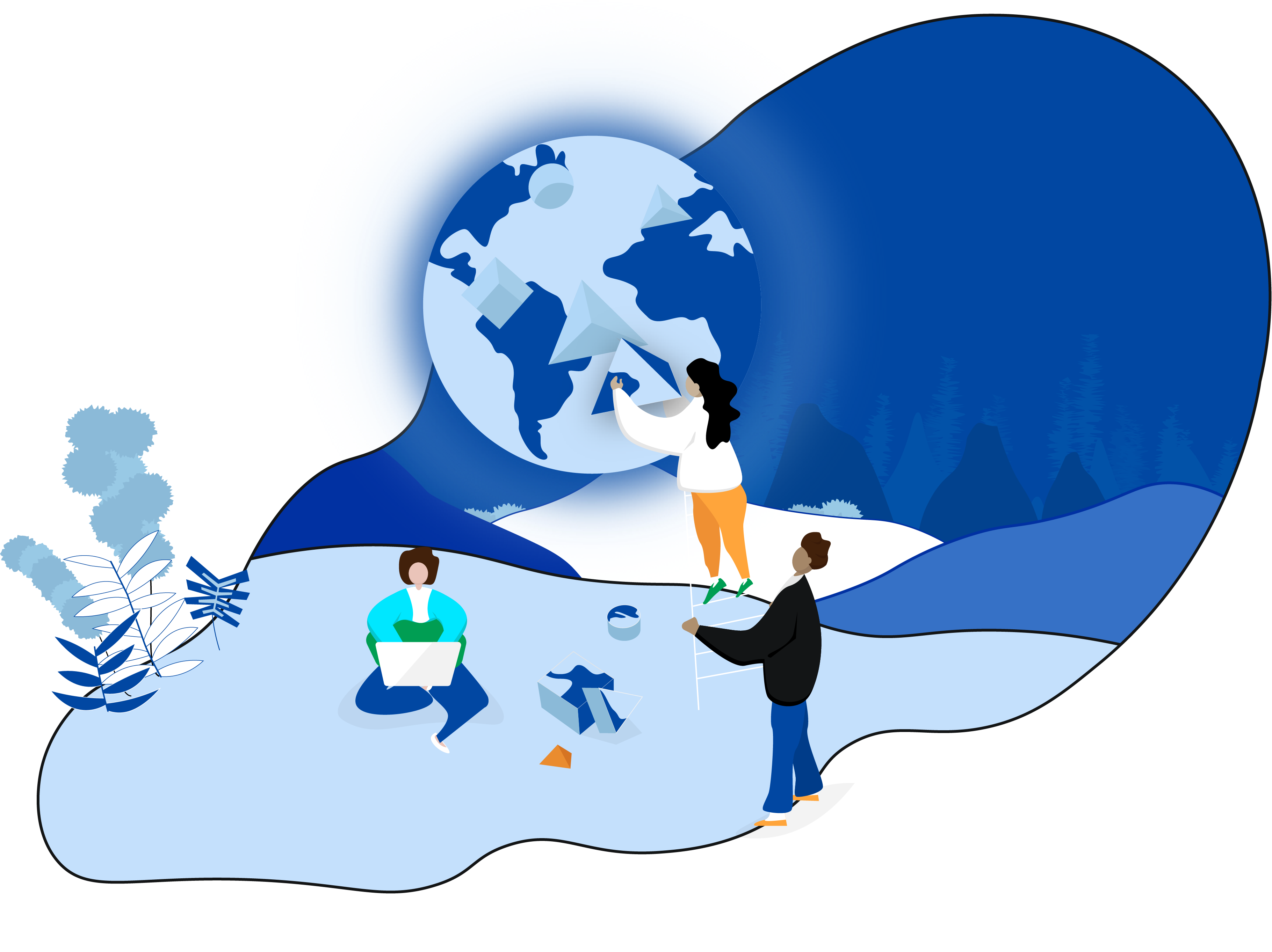 Volunteers , Companies, Nonprofits Working Together