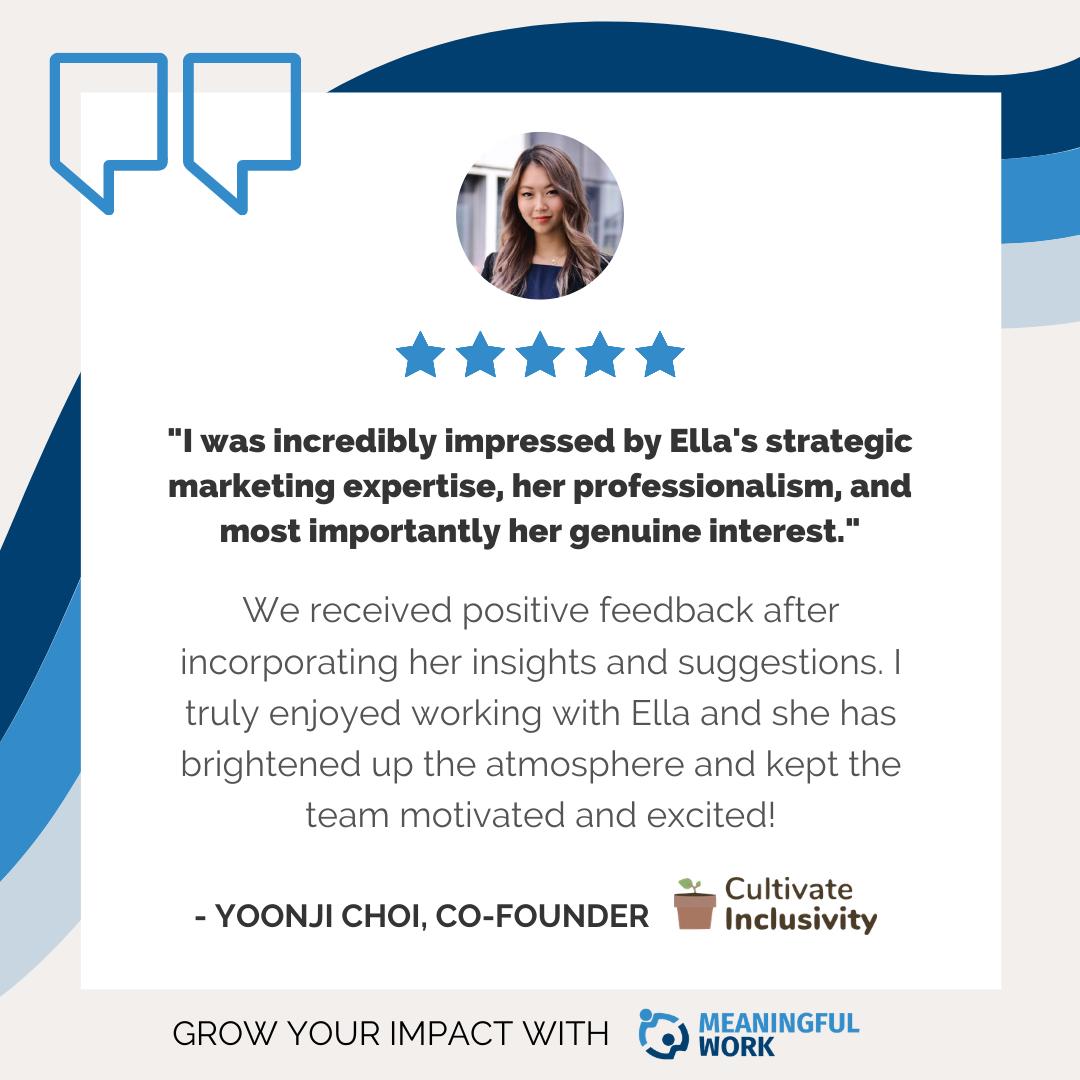 MeaningfulWork Testimonial from Ella Yoonji